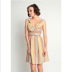Eva Franco Rainbow Striped Dress